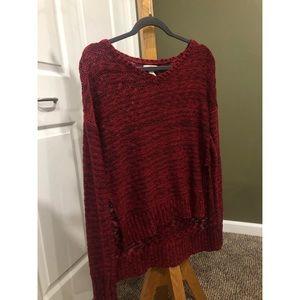 Arizona Jean Co. Dark Pink High Low Sweater